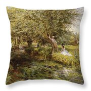 The Trysting Place Throw Pillow