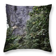 The Tunnel Below The Rock Throw Pillow