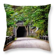 The Tunnel On The Scenic Route Throw Pillow