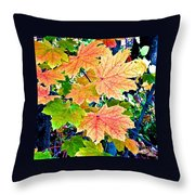 The Turning Leaves Throw Pillow