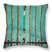 The Turquoise Gate Throw Pillow