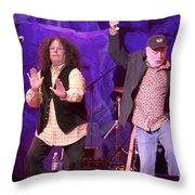 The Turtles - Mark Volman And Howard Kaylan Throw Pillow