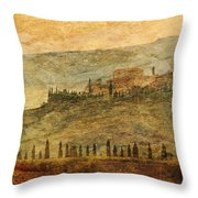 The Tuscan Landscape Near Pienza Throw Pillow