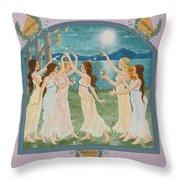 The Twelve Dancing Princesses Throw Pillow