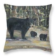 Cubs - Bears - Goldilocks And The Three Bears Throw Pillow