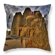The Twisting Winds Of The Square Throw Pillow