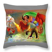 The Two Beasts Of Revelations Throw Pillow