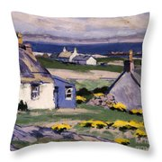 The Two Crofts Throw Pillow by Francis Campbell Boileau Cadell