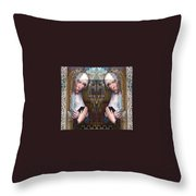 the two Marys at the Alhambra Throw Pillow