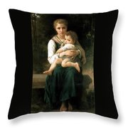 The Two Sisters Throw Pillow