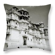 The Udaipur City Palace  Throw Pillow