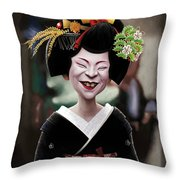 The Ugly Geisha Throw Pillow