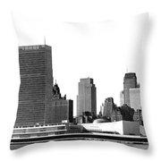 The Un And Chrysler Buildings Throw Pillow