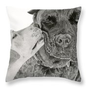 The Unconditional Love Of Dogs Throw Pillow by Sarah Batalka