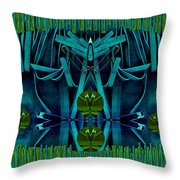 The Under Water Temple Throw Pillow