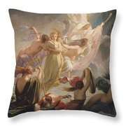 The Undines Or The Voice Of The Torrent Throw Pillow by Ernest Augustin Gendron