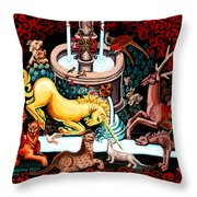 The Unicorn Purifies The Water Throw Pillow