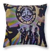 The Universal Zulu Nation Throw Pillow