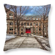 The University Of Wisconsin Education Building Throw Pillow