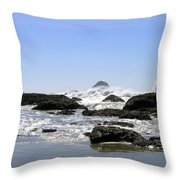 The Untamed Sea Throw Pillow