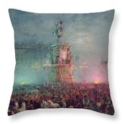 The Unveiling Of The Nicholas I Memorial In St. Petersburg Throw Pillow