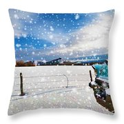 The Unwilling Winter Throw Pillow