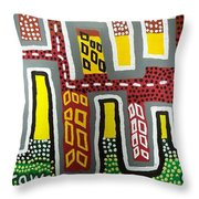 The Up Side Down City Throw Pillow