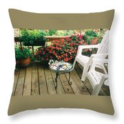The Upper Deck With Stain Glass Table Throw Pillow