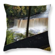 The Upper Falls Throw Pillow