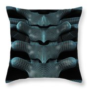 The Upper Spine Wireframe Throw Pillow