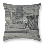 The Upstairs At The Cemetery Throw Pillow