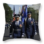 The U.s. Air Force Color Team Throw Pillow