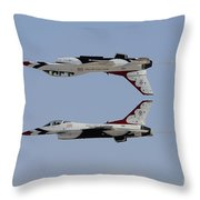 The U.s. Air Force Thunderbirds Throw Pillow
