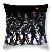 The U.s. Army Drill Team Performs Throw Pillow