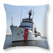 The U.s. Coast Guard Cutter Valiant Throw Pillow
