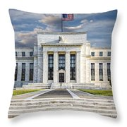 The Us Federal Reserve Board Building Throw Pillow by Susan Candelario