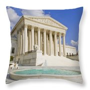 The Us Supreme Court Building Throw Pillow