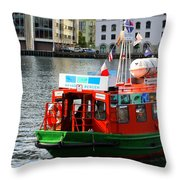 The Vagen Harbour Ferry Throw Pillow