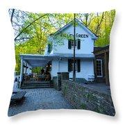The Valley Green Inn On Forbidden Drive Throw Pillow