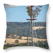 The Valley Windmill Throw Pillow