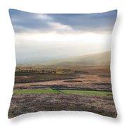 The Valleys In Wicklow Ireland Throw Pillow