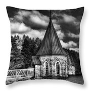The Valve Tower Mono Throw Pillow