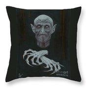 The Vampire Throw Pillow