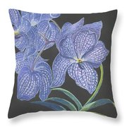 The Vanda Orchid Throw Pillow