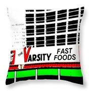 The Varsity Atlanta Pop Art Throw Pillow