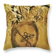 The Vase Throw Pillow