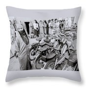 Woman In The Souk Throw Pillow