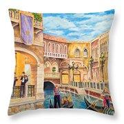 The Venetian Canal  Throw Pillow