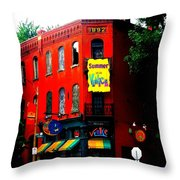 The Venice Cafe' Edited Throw Pillow