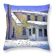 The Vermont Homestead Throw Pillow